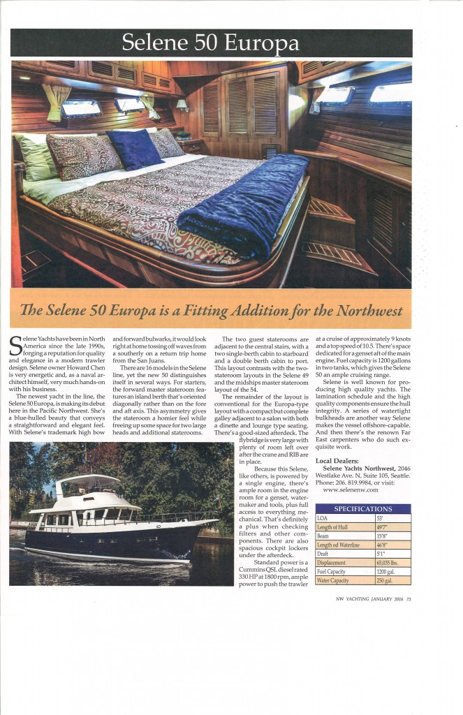 NW Yachting Article